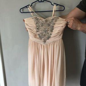 Light pink prom dress
